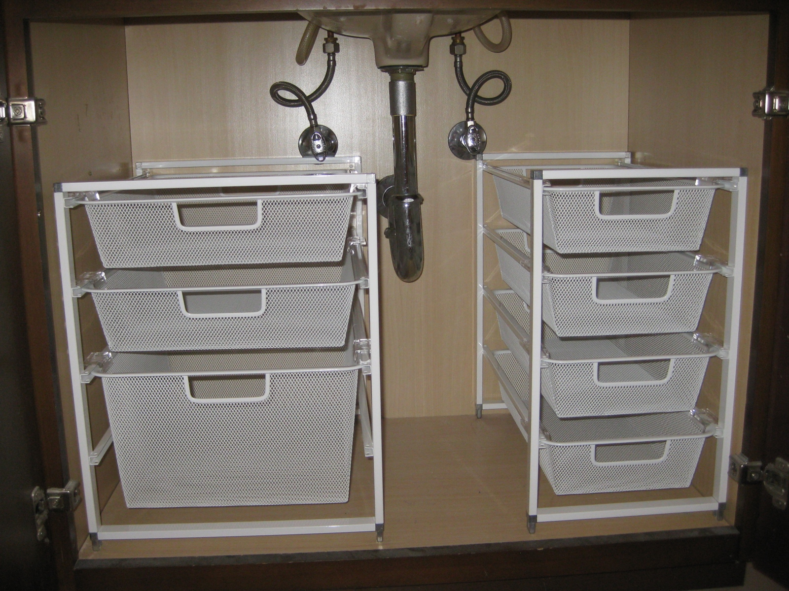 Under the sink organization pleia2 39 s blog - Bathroom vanity under sink organizer ...