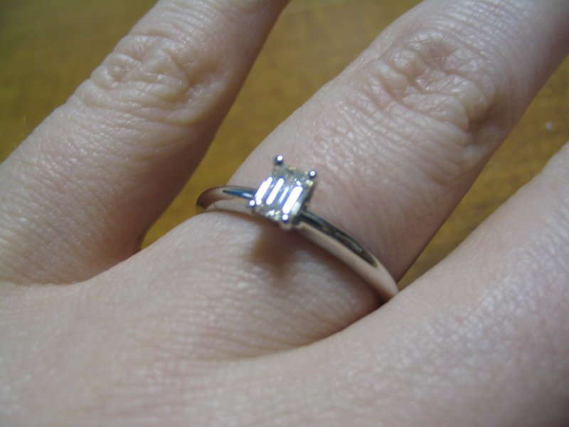simple I got a band that is the same thickness as my engagement ring