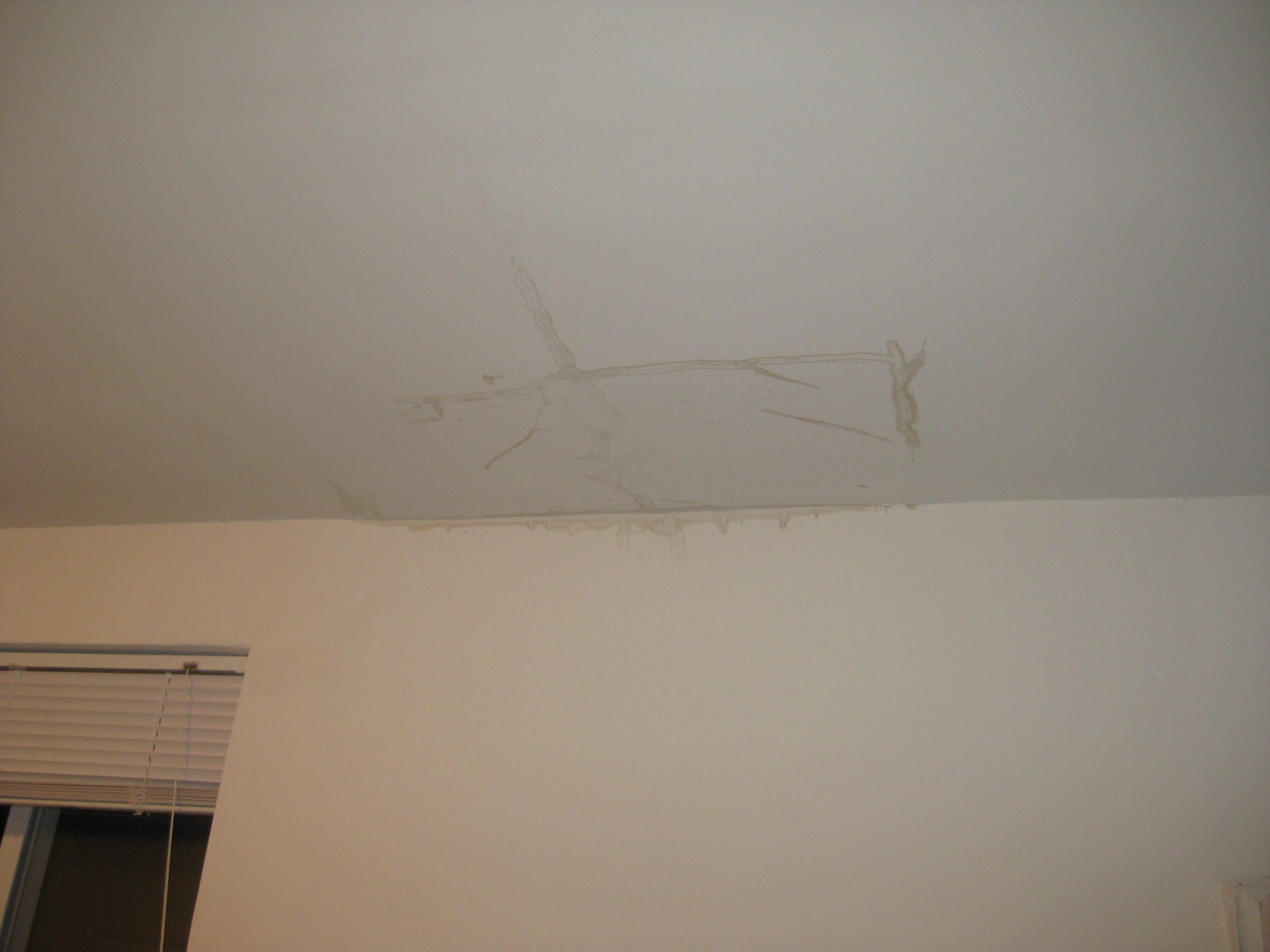 The ceiling in my apartment is leaking Leak in ceiling when it rains
